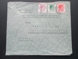 GB Kolonie Hong Kong 1939 MiF One Dollar Usw. Drei Farben Frankatur!! Luftpost - Hong Kong (...-1997)
