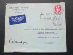 Indien / Frankreich 1939 Einfachfrankatur Nr. 405. Chemdyes Limited Chemicals Dept. Bombay. Marseille. Luftpost - Briefe U. Dokumente