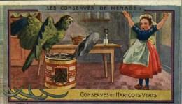 Chromos Ou Images - Chromo Conserves De Haricots Verts Carte N° 15 (Perroquet) - Au Planteur De Caïffa - Kaufmanns- Und Zigarettenbilder