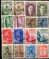 7 Sets 1960-1963 Albanien O 17€ Flagge Dokument Architektur Polizist Curie Schlacht Berg Polizei Topic Albania Shqiperia - Drapeaux
