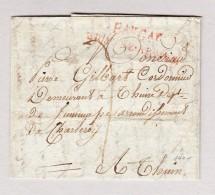 France Bau Gaf Grande Armée Marque Postale Rouge Lettre Pour Thuin Belgique - 1801-1848: Précurseurs XIX