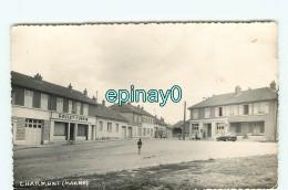 Br - 51 - CHARMONT - CARTE PHOTO Du Centre Ville  - RARE - Altri Comuni