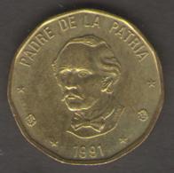 DOMINICANA 1 PESO 1991 - Sao Tome Et Principe