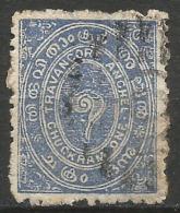 INDE / Etats Princiers / Travancore - N° YT 6 Oblit - Poste Aérienne