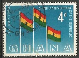 GHANA - N° YT 136 Oblit - Poste Aérienne