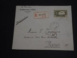 FRANCE / SENEGAL -Enveloppe En Recommandée De Dakar Pour Paris En 1940 , Censure - A Voir - L 409 - Sénégal (1887-1944)