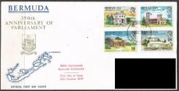 Bermuda. 1970 350th Anniv Of Bermuda Parliament. First Day Cover. SG 266-269 - Bermuda