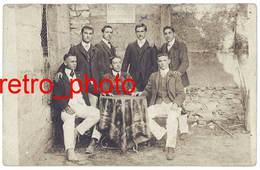 Carte Photo Vedène , Les Joyeux Amis Vedénais 1908 - Sonstige Gemeinden