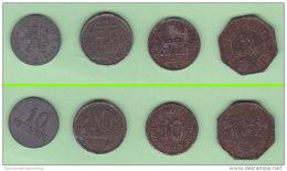 Weimar State Notgeld Germania 4 Gettoni / Moneta Provvisoria Periodo 1917/1921 - Monetari/ Di Necessità
