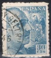 Sello 30 Ct Caudillo, VARIEDAD Impresion, Num 924 º - 1931-Aujourd'hui: II. République - ....Juan Carlos I