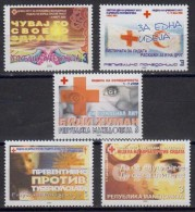 MACEDONIA UNUSED CHARITY STAMPS RED CROSS TUBERCULOSIS CANCER AIDS 2002 - Macedonië