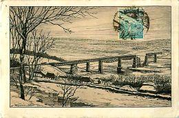 Cpa HONGRIE - Dniestrbrücke Bei Zaleszczyki - Timbre - Ungarn