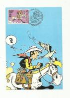 BELGIQUE : Carte Maximum Lucky Luke CaD De Estaimpuis Du 13 10 1990 - 1981-1990