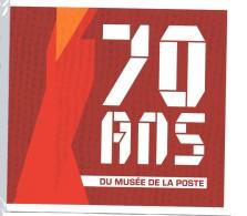 COLLECTOR 70 ANS DU MUSEE DE LA POSTE AVEC 4 TIMBRES  NEUF SOUS PLASTIQUE - Neufs
