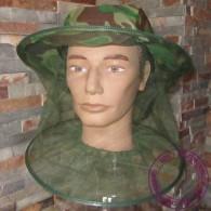 Une Moustiquaire De Tête, Camouflée Ou Filet De Protection Contre Les Insectes Piqueurs, Mosquito Head Net - Equipement