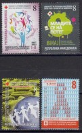 MACEDONIA UNUSED CHARITY STAMPS RED CROSS TUBERCULOSIS CANCER AIDS 2012 - Macedonië
