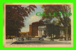 OTTAWA, ONTARIO - RIDEAU STREET SHOWING UNION STATION - ANIMATED OLD CARS - TRAVEL IN 1946 - PECO - - Ottawa