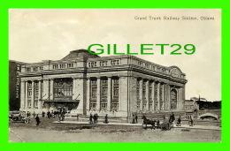 OTTAWA, ONTARIO - GRAND TRUNK RAILWAY STATION - ANIMATED - TRAVEL IN 1913 -  VALENTINE & SONS PUB. CO LTD - - Ottawa