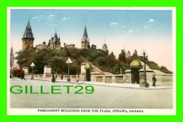 OTTAWA, ONTARIO - PARLIAMENT BUILDINGS FROM THE PLAZA - ANIMATED - PUB. BY INTERNATIOANL FINE ART CO LTD - - Ottawa