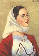 Sardaigne - Costumi Sardi - Mamoiada (Sassari) - Illustration Perrotti - Carte Non Circulée - Costumes