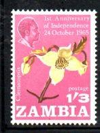 XP148 - ZAMBIA , Yvert N. 24 *** MNH . FIORI - Zambia (1965-...)