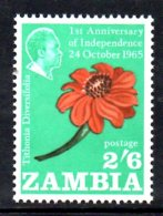 XP149 - ZAMBIA , Yvert N. 25 *** MNH . FIORI - Zambia (1965-...)