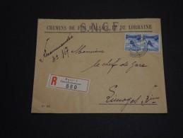 SUISSE - Enveloppe En Recommandée De La Gare De Basel Pour La Gare De Limoges En 1938 - A Voir - L 414 - Cartas