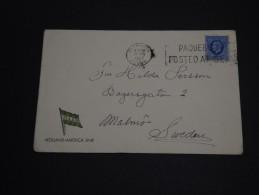 GRANDE - BRETAGNE - Enveloppe De Plymouth Postée à Bord Du Bateau Pour La Suède En 1937 - A Voir - L 416 - Briefe U. Dokumente