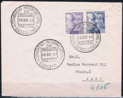 1947.-  BARCELONA A JAÉN - 1931-50 Cartas