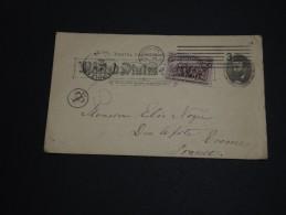 ETATS -UNIS - Entier Postal + Complément Pour La France En 1894 Et Taxé - A Voir - L 427