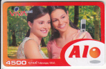 ARMENIA - Girls, VIVA Prepaid Card 4500 AMD, Exp.date 22/02/07, Used