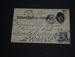 ETATS -UNIS - Entier Postal + Complément Pour La France En 1894 - A Voir - L 428