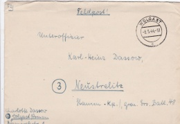 Feldpost WW2: To A NCO In Grenadier Ersatz Bataillon 48 In Neustrelitz P/m Wolgast 8.5.1944 - Letter Inside  (G85-17) - Militaria