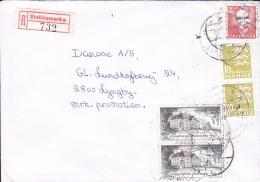 Denmark Registered Einschreiben Label STOKKEMARKE 199? Cover Brief LYNGBY - Dänemark