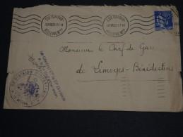 FRANCE  - Enveloppe De La 23 ème Division D' Infanterie à Coëtquidan Pour Limoges En 1938 - A Voir - L 434 - Marcophilie (Lettres)