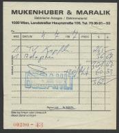 Austria,  Wien,  Mukenhuber & Maralik Shop, TV- Parts, 1987. - Österreich