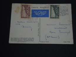FRANCE / SÉNÉGAL - Carte Air France De Dakar Pour Limoges Du 1er Janvier 1938 - A Voir - L 437 - Poste Aérienne