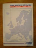 Guía NISSAN Del Servicio En Europa (paneuropeo) 1991/92 * Nueva - Documentos Antiguos