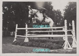 33 - Photo Original De A. Gaillard Bordeaux 1928  - Cavalier Saut D'obstacle, Militaire, Chevaux. Format 13/18 Cm. - Chevaux