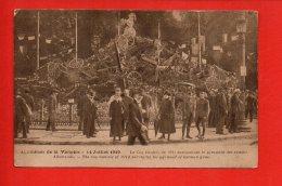 Apothéose De La Victoire - 14 Juillet 1919 - Le Coq Gaulois De 1914 Surmontant La Pyramide Des Canons Allemands - Manifestations