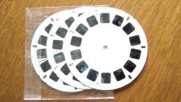 VIEW MASTER    3 DISQUES SANS POCHETTE - LA BATAILLE DES PLANETTES    BD  1861/62/63 - Visionneuses Stéréoscopiques