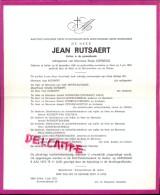 Devotie Doodsbrief - Dokter Jean Rutsaert - Aalter 1909 - Gent 1972 - Décès