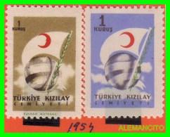 TURKIA - ( TURKEY  -  EUROPA  ) 2 SELLOS AÑO 1954 - 1921-... Repubblica