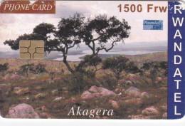 Rwanda, 1500 Frw, Akagera, 2 Scans.