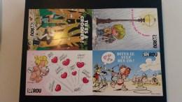 4 Postkaarten Spirou - Entiers Postaux