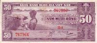 Vietnam, South - Vietnam, Pick 7 A, 50 Dong, 1956 ! - Vietnam