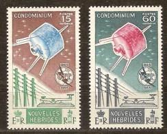 Nouvelles Hebrides New Hebrides  Yvertn° 211-212 *** MNH Cote 15,35 Euro - Légende Française