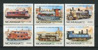Trains. Nicaragua 1985 Mi 2579-84 ** MNH. - Trains
