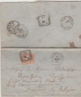Italy EL 1874 Castellamare Di Stabia Via Napoli To Livorno. Taxed 30 C. Postage Due - Text In Greek - 1861-78 Vittorio Emanuele II