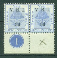 Oranje Vrij Staat.  Nr. 106b Pair. Varity: No Dot After V.  SG. 325£ In 1984. Scare. MH. - Oranje-Freistaat (1868-1909)